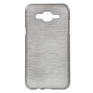Broušený gelový obal na Samsung Galaxy J5 - šedý - 1