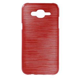 Broušený gelový obal na Samsung Galaxy J5 - červený - 1