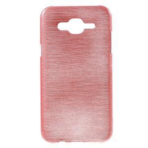 Broušený gelový obal na Samsung Galaxy J5 - růžový - 1