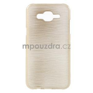 Broušený gelový obal na Samsung Galaxy J5 - champagne - 1