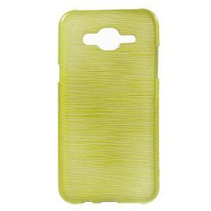 Broušený gelový obal na Samsung Galaxy J5 - zelenožlutý - 1
