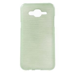 Broušený gelový obal na Samsung Galaxy J5 - azurový - 1