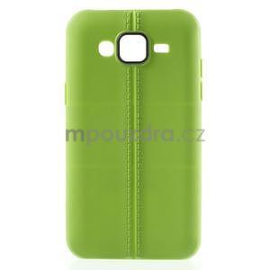 Gelový kryt se švy na Samsung Galaxy J5 - zelený - 1