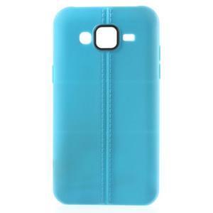 Gelový kryt se švy na Samsung Galaxy J5 - světle modrý - 1