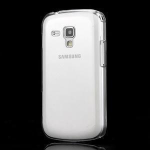 Transparentní plastový obal na Samsung Galaxy S Duos, Trend Plus - 1