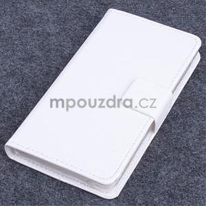 Koženkové pouzdro na mobil Lenovo A536 - bílé - 1