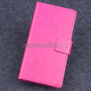 Koženkové pouzdro na mobil Lenovo A536 - rose - 1