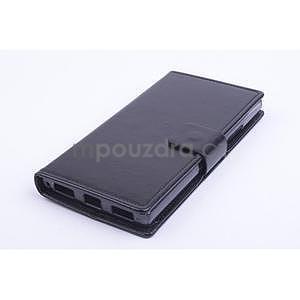 Peněženkové PU kožené pouzdro na Lenovo P70 - černé - 1
