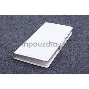 Peněženkové PU kožené pouzdro na Lenovo P70 - bílé - 1