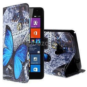 Safety pouzdro na mobil Microsoft Lumia 535 - modrý motýl - 1
