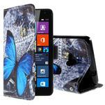 Safety pouzdro na mobil Microsoft Lumia 535 - modrý motýl - 1/5