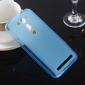 Matný gelový kryt pro Asus Zenfone 2 Laser ZE500KL - modrý