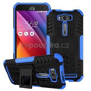 Outdoor odolný kryt se stojánkem na Asus Zenfone 2 Laser ZE500KL - modrý - 1