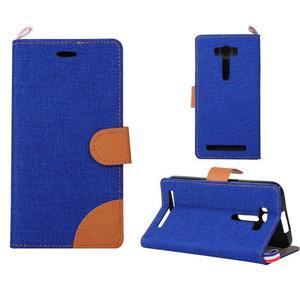 Jeans pouzdro na mobil Asus Zenfone 2 Laser - tmavěmodré - 1