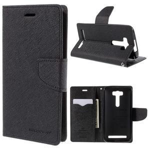Diary stylové pouzdro na Asus Zenfone 2 Laser - černé - 1