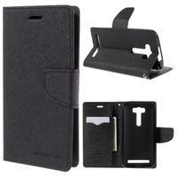 Diary stylové pouzdro na Asus Zenfone 2 Laser - černé - 1/7