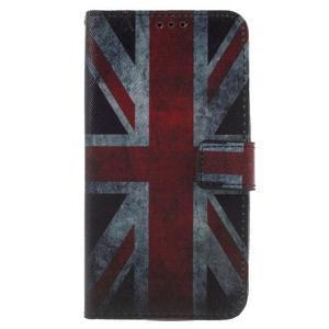 Koženkové pouzdro na Asus Zenfone 2 Laser - UK vlajka - 1