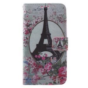 Koženkové pouzdro na Asus Zenfone 2 500KL Laser - Eiffelova věž - 1
