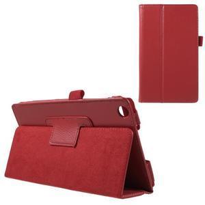 Safety koženkové pouzdro na Asus ZenPad C 7.0 Z170MG - červené - 1