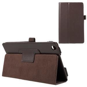 Safety koženkové pouzdro na Asus ZenPad C 7.0 Z170MG - hnědé - 1