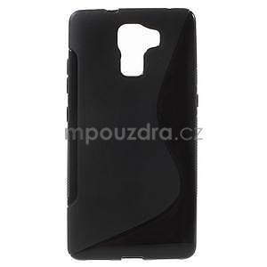 Černý gelový kryt S-line na Huawei Honor 7 - 1