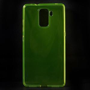 Transparentní gelový obal na telefon Honor 7 - žlutý - 1