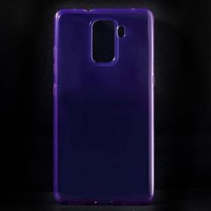 Transparentní gelový obal na telefon Honor 7 - fialový - 1