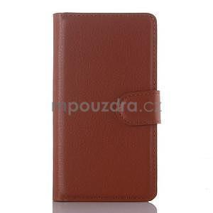 Peněženkové pouzdro na mobil Lenovo A2010 - hnědé - 1