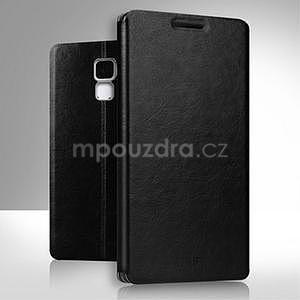 Koženkové pouzdro na mobil Honor 7 - černé - 1