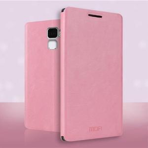 Koženkové pouzdro na mobil Honor 7 - růžové - 1