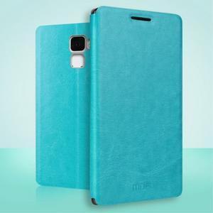 Koženkové pouzdro na mobil Honor 7 - modré - 1