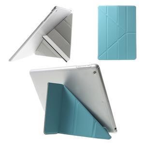 Origami ochranné pouzdro na Apple iPad Air - světle modré - 1