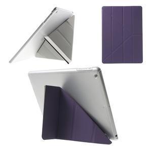 Origami ochranné pouzdro na Apple iPad Air - fialové - 1