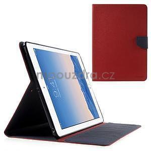 Diary peněženkové pouzdro na iPad Air - červené - 1