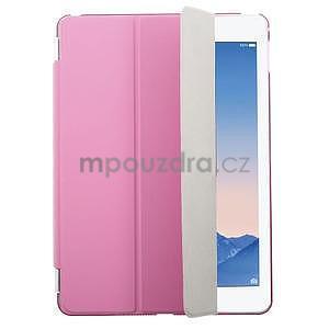 Trifold polohovatelné pouzdro na iPad Air 2 - rose - 1