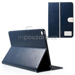 Daffi elegantní pouzdro na iPad Air 2 - tmavěmodré - 1