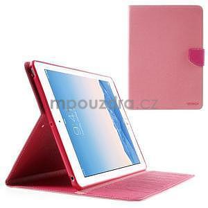 Diary peněženkové pouzdro na iPad Air - růžové - 1