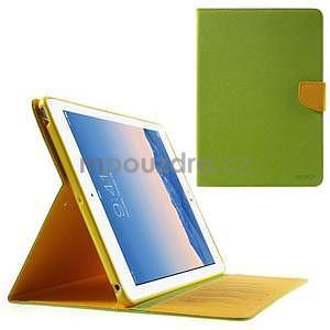 Diary peněženkové pouzdro na iPad Air - zelené - 1