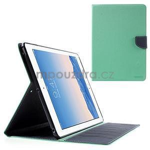 Diary peněženkové pouzdro na iPad Air - azurové - 1
