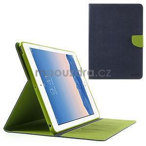 Diary peněženkové pouzdro na iPad Air - tmavěmodré - 1