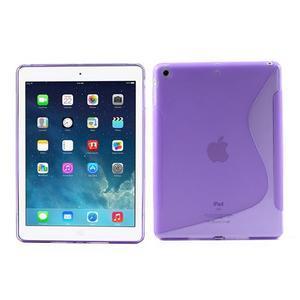 S-line gelový ochranný obal na iPad Air - fialový - 1