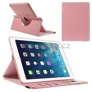 Circ otočné pouzdro na Apple iPad Air - růžové - 1