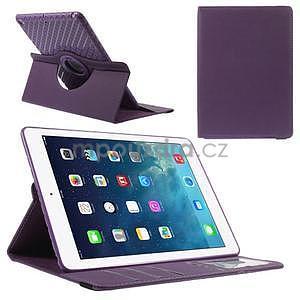 Circ otočné pouzdro na Apple iPad Air - fialové - 1
