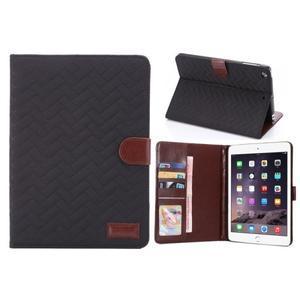 Texture luxusní pouzdro na iPad Mini 3, iPad Mini 2 a iPad Mini - černé - 1