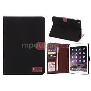Cloth luxusní pouzdro na Ipad Mini 3, Ipad Mini 2 a Ipad Mini - černé - 1