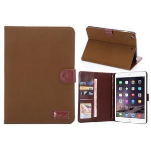 Cloth luxusní pouzdro na Ipad Mini 3, Ipad Mini 2 a Ipad Mini - hnědé - 1