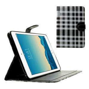 Kostkované pouzdro na Apple iPad Mini 3, iPad Mini 2 a iPad Mini - černé - 1