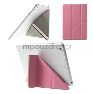 Origami ochranné pouzdro iPad Mini 3, iPad Mini 2, iPad mini - růžové - 1