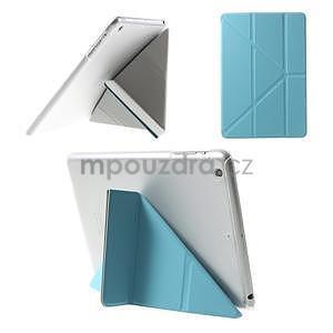 Origami ochranné pouzdro iPad Mini 3, iPad Mini 2, iPad mini - světlémodré - 1