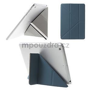 Origami ochranné pouzdro iPad Mini 3, iPad Mini 2, iPad mini - tmavě modré - 1
